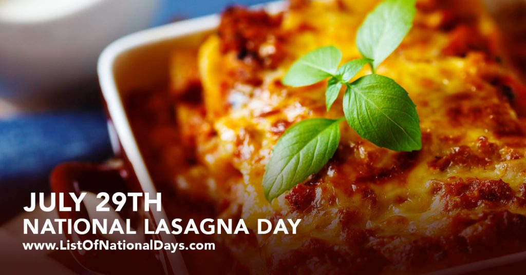 July-29-National-Lasagna-Day