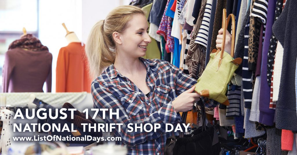 august 17 -national thrift shop day