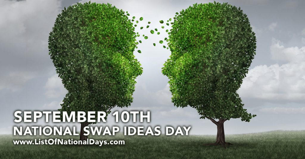 NATIONAL SWAP IDEAS DAY