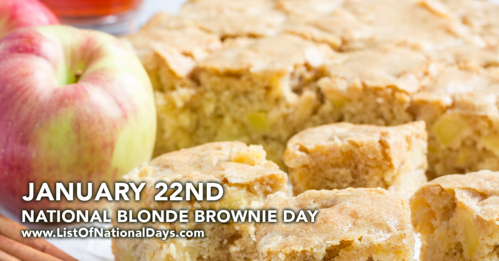NATIONAL BLONDE BROWNIE DAY