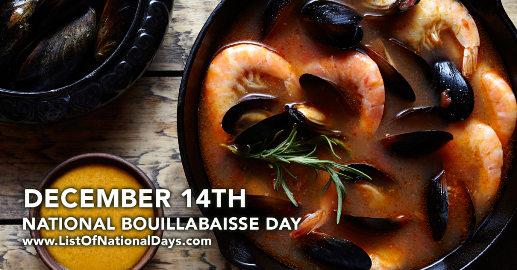 NATIONAL BOUILLABAISSE DAY