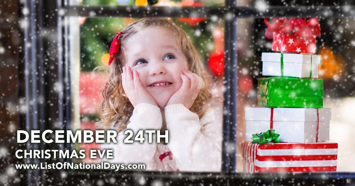 CHRISTMAS EVE - List Of National Days