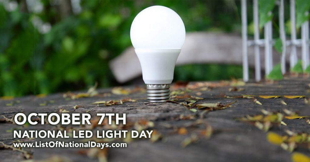 NATIONAL LED LIGHT DAY