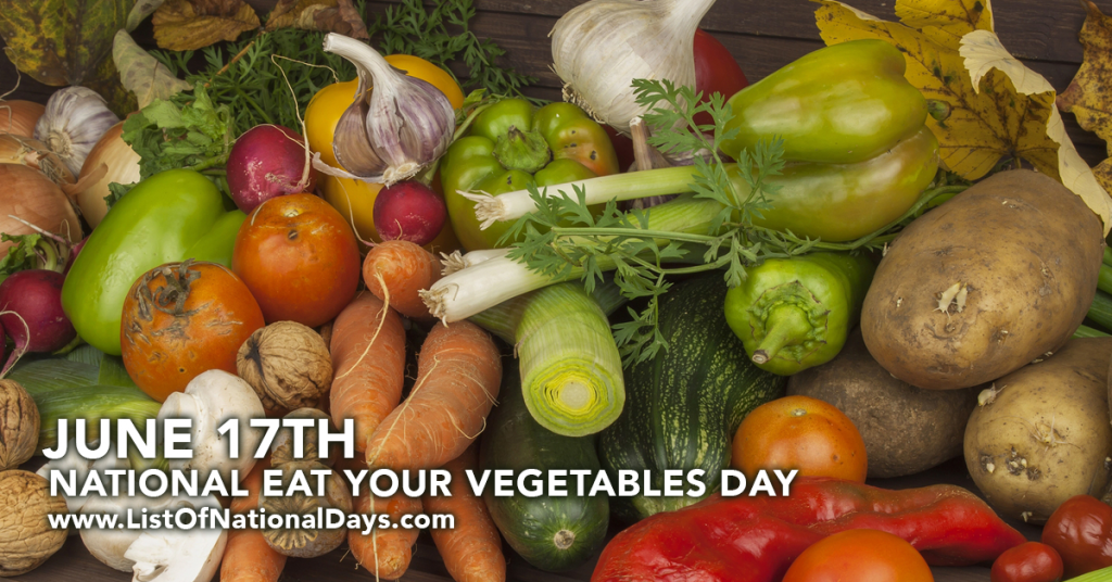 NATIONAL EAT YOUR VEGETABLES DAY