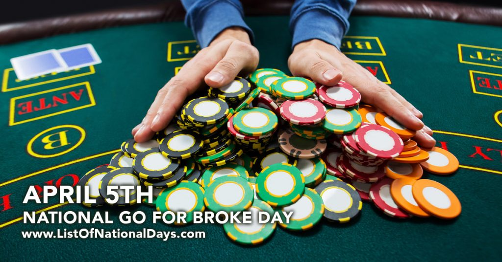 NATIONAL GO FOR BROKE DAY