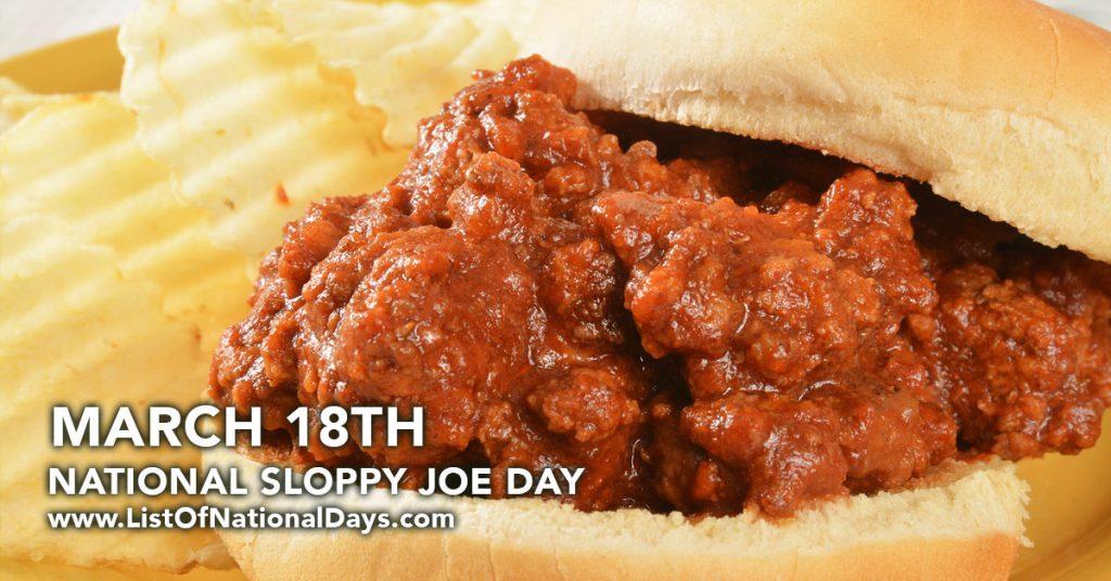 NATIONAL SLOPPY JOE DAY