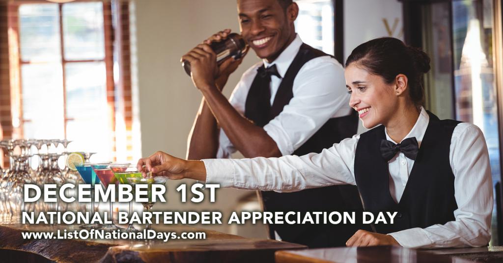 NATIONAL BARTENDER APPRECIATION DAY