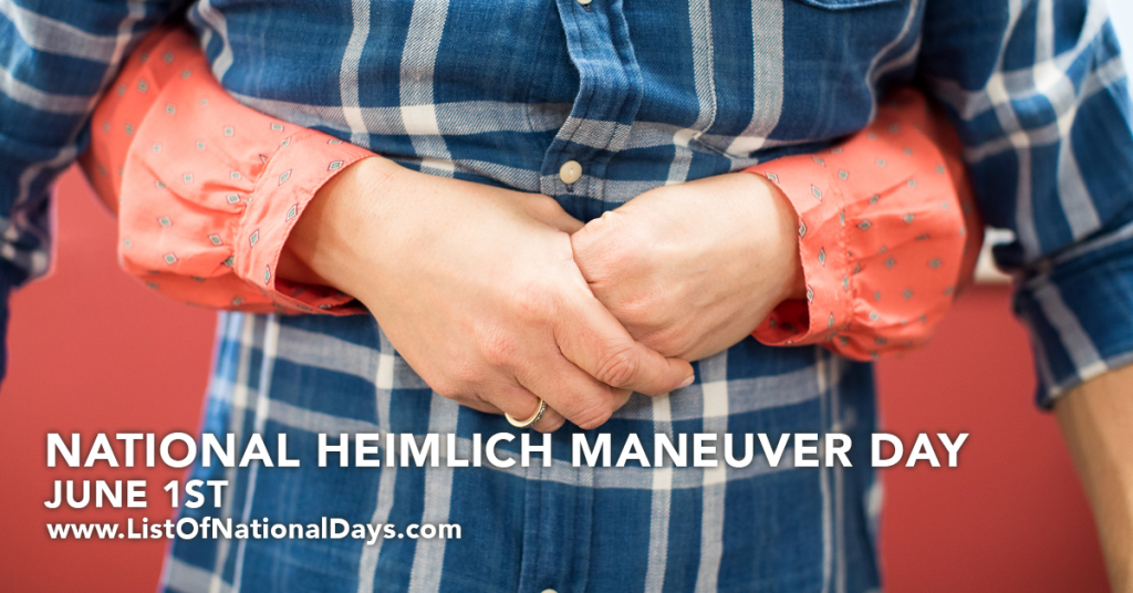 NATIONAL HEIMLICH MANEUVER DAY