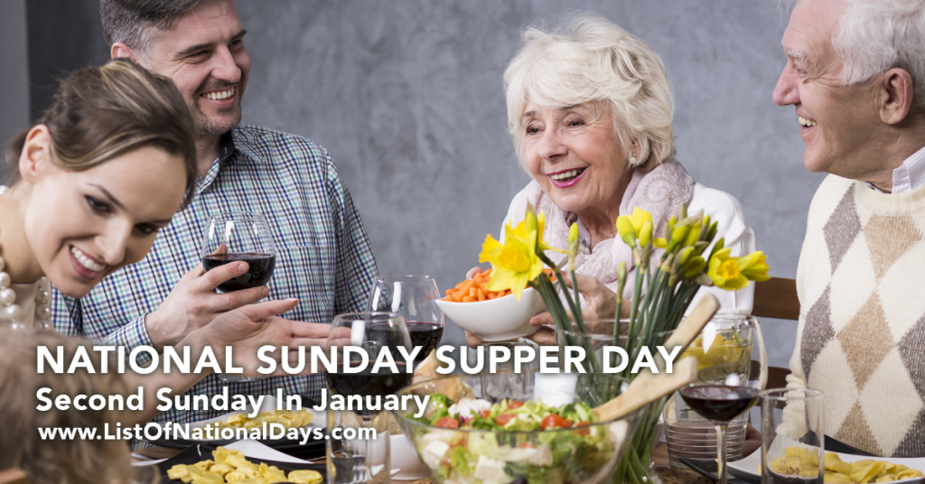 NATIONAL SUNDAY SUPPER DAY