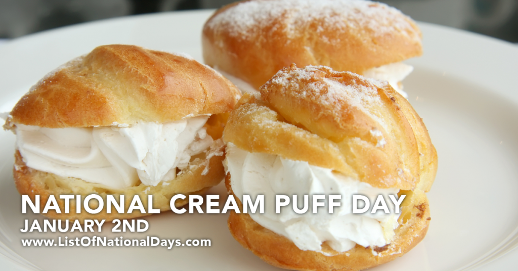 NATIONAL CREAM PUFF DAY