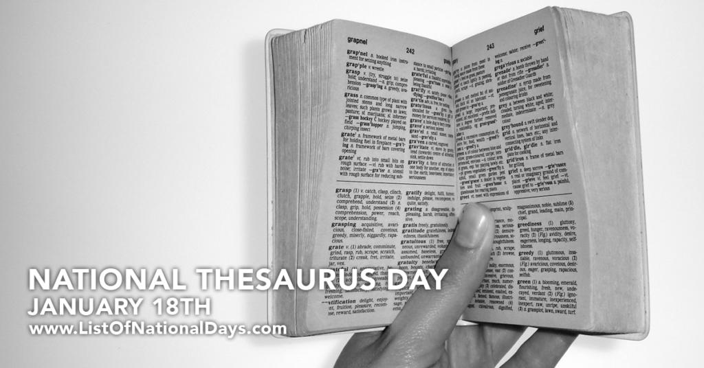 NATIONAL THESAURUS DAY