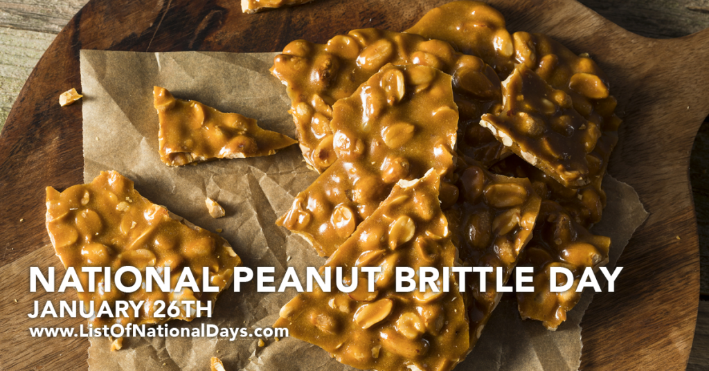 NATIONAL PEANUT BRITTLE DAY