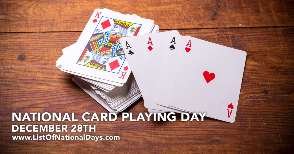 NATIONAL CARD PLAYING DAY