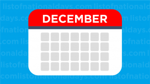 December List Of National Days