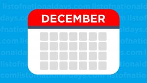 December List Of National Days