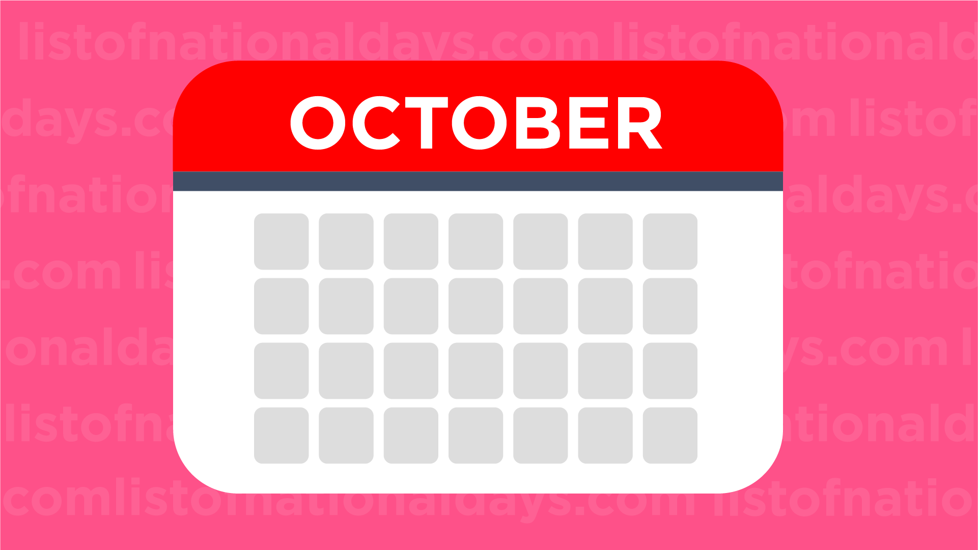 October List Of National Days