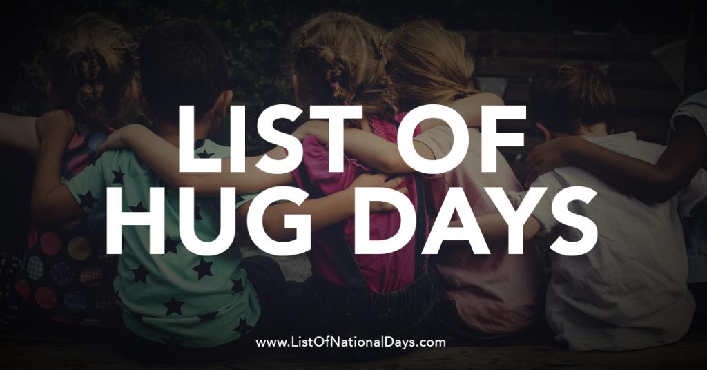 NATIONAL HUG DAYS