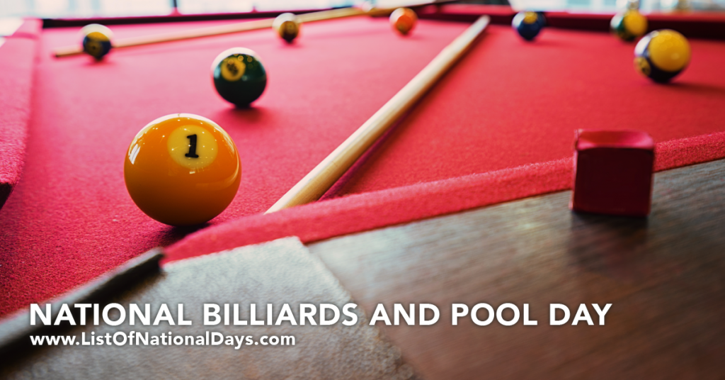 NATIONAL BILLIARDS AND POOL DAY