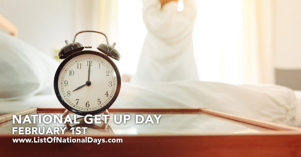 NATIONAL GET UP DAY