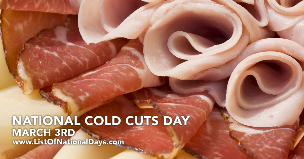 Close up of cold cuts