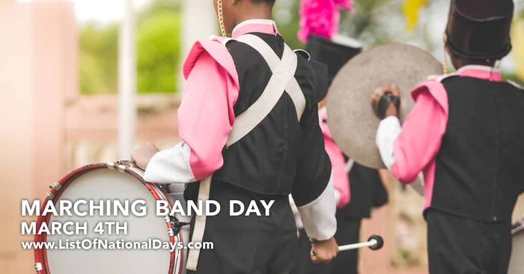 Photo of a marching band.