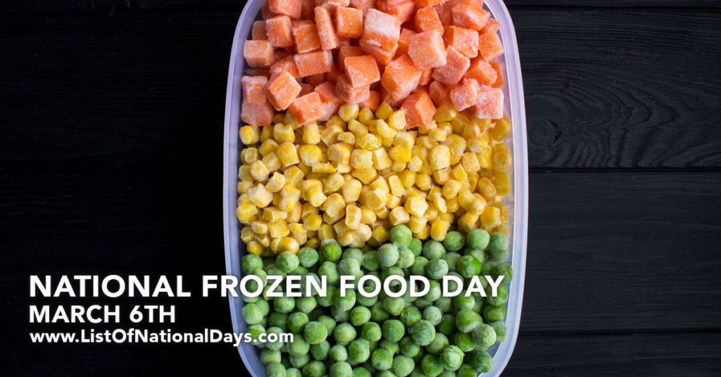 Frozen Carrots, Corn, and Peas in a Tupperware container