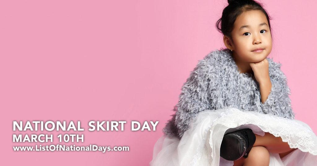 Girl wearing skirt