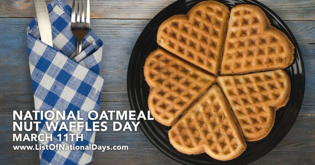 A plate of oatmeal waffles shaped like hearts.