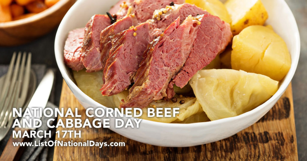 A bowl of corned beef and cabbage.