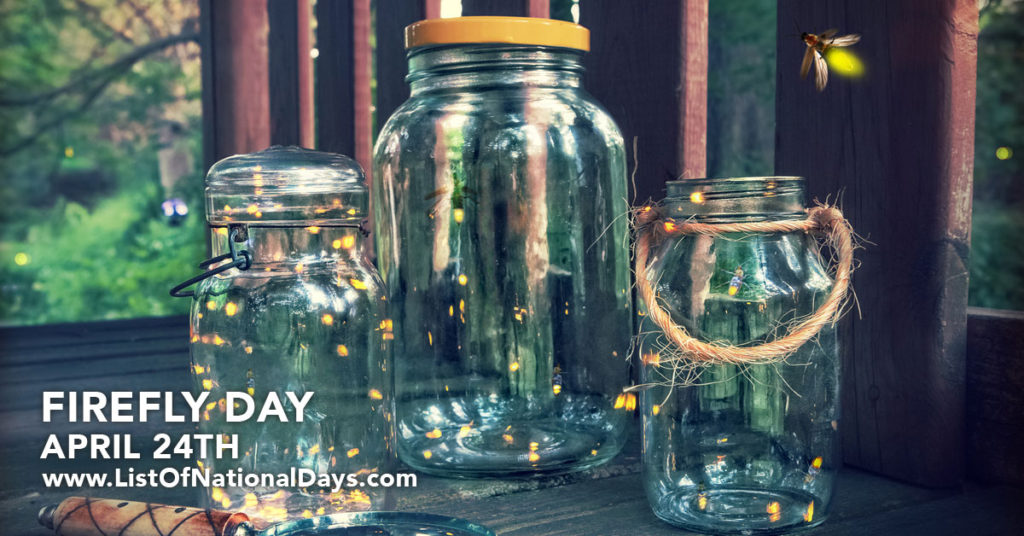 Three jars with fireflies around them