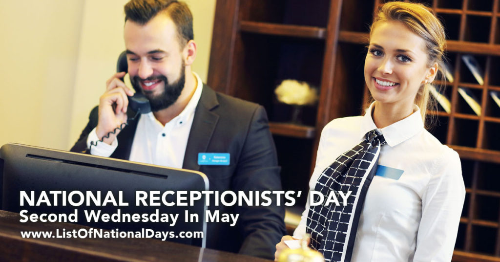 Smiling receptionists