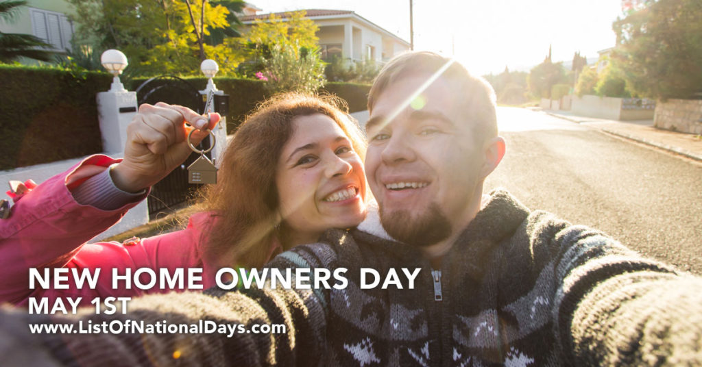 New homeowners taking a selfie.