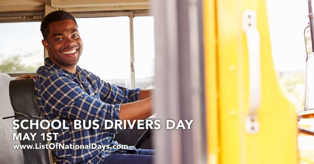 Smiling bus driver.