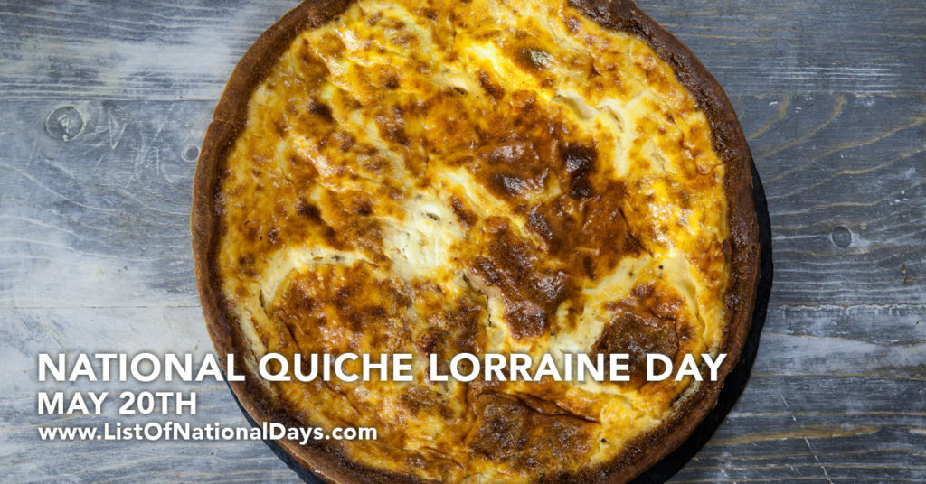 Quiche lorraine cooling on a counter top.
