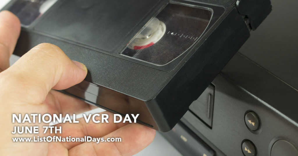 Close up of a VHS Tape bing inserted into a VCR.
