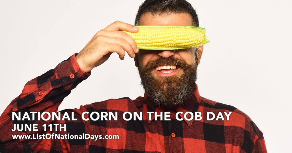 Man with holding corn over his eyes.