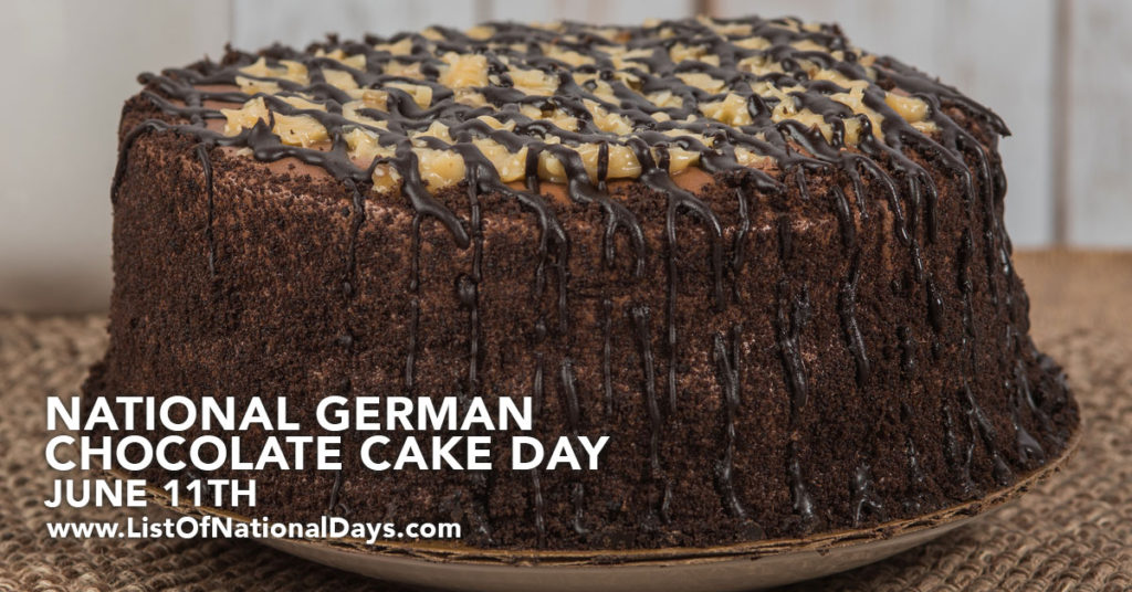 An uncut german chocolate cake