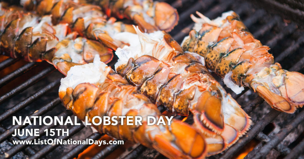 6 lobster tails on a BBQ grill.