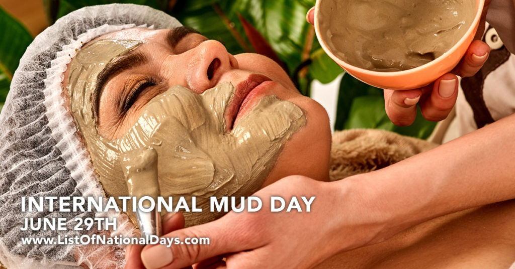 A woman at a spa getting a mud mask.