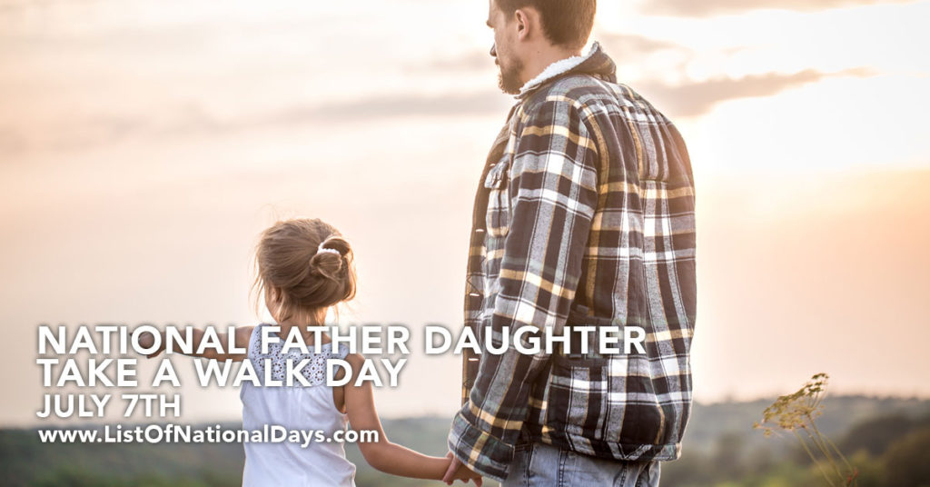 A father and daughter taking a walk.