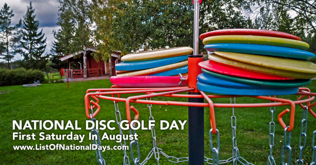 Multi Colored discs on a course target.
