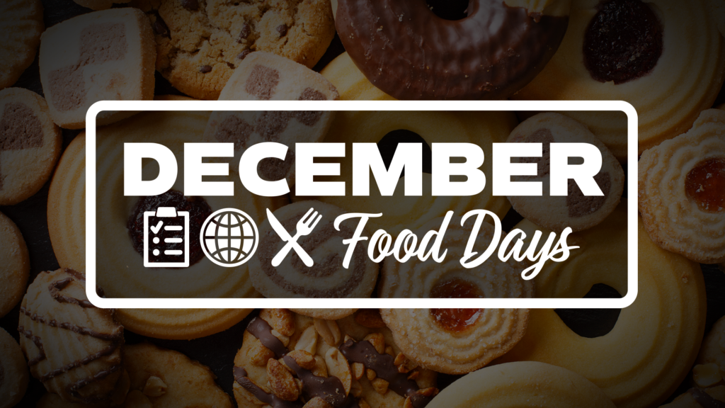 December Food Days Graphic