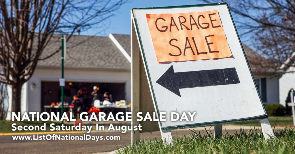 A homemade sign pointing to a garage sale.