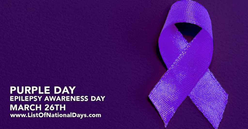 A purple ribbon for Epilepsy Awareness Day